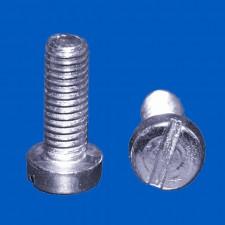 Schraube M2, L: 5mm, D: 3.8mm, Stahl vernickelt