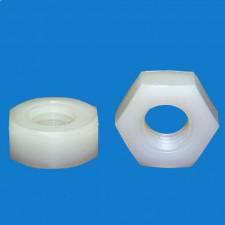 Kunststoff-Mutter M6, SW 10, Polyamid 6.0-gv 25%
