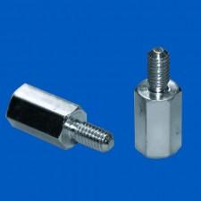 Abstandsbolzen M4x35, Stahl, SW7