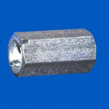 Abstandsbolzen M6x20, Stahl, mit Schlitz