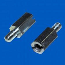 Abstandsbolzen M3x5, Stahl, mit Schlitz