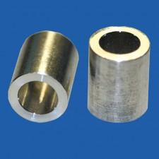 Distanzhülse für M4x15, Aluminium, Wandstärke 0.9 mm