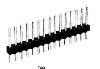 Stiftleiste, für Senkrechtmontage, 14-polig