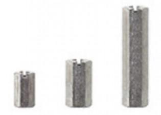 Abstandsbolzen M4x10, Stahl glanzverzinkt, SW8