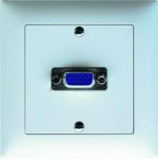 Unterputz-Montageset 1x VGA Durchführung f/f (15pol. D-Sub HD), Abdeckrahmen aus Kunststoff