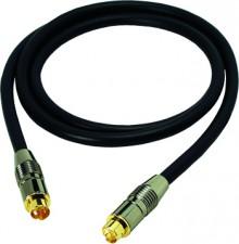 S-VHS Verbindungskabel, hochflexibel, beidseitig mit 4 pol. Mini-DIN-Stecker, Ø 6,8 mm, 1 Meter